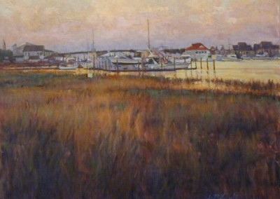 Perry Austin - Reflected Sunset Wrightsville, 16x20, SOLD