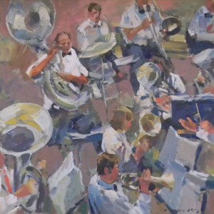 Charles Movalli - The Orchestra, 36x36, acrylic, 6800