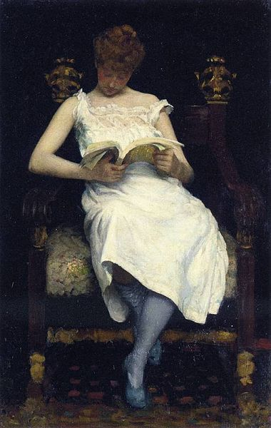 Edward Simmons - Girl Reading
