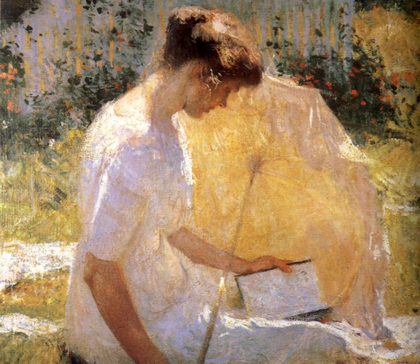 Frank Benson - The Reader, The Greenbrier, Walls Fine Art Gallery