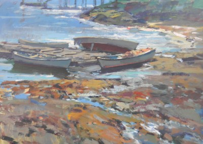 """Charles Movalli - """"Afternoon Aground"""", 36x36, Acrylic"""