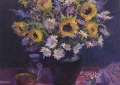 John Poon - Sunflowers,  SOLD