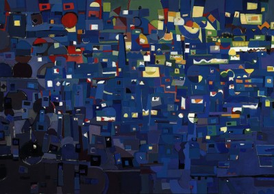 "David Leadman - ""Cool the Loud Streets"", 40x60, Oil, SOLD"