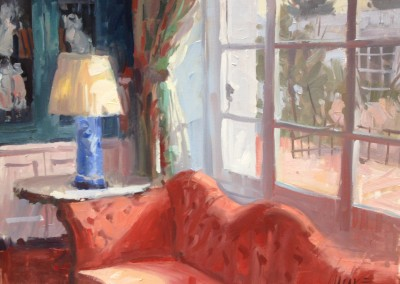 "Larry Moore - ""Quiet Corner, Greenbrier"", 16x12, Oil, Sold"