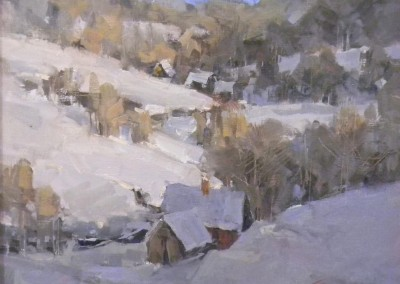 "Steve Songer - ""Winter Greys"", 10 x 12, Oil"