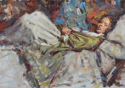 "Kevin Beilfuss - ""Sofia at Rest"", 16x24, oil, $4000"
