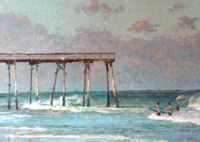 "Cameron Smith - ""Crystal Pier"", 30x40, Acrylic, SOLD"