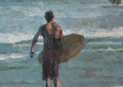 "Cameron Smith - ""Evening Surf"", Acrylic, SOLD"