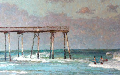 "Cameron Smith - ""Crystal Pier"", 30x40, Oil, Sold"