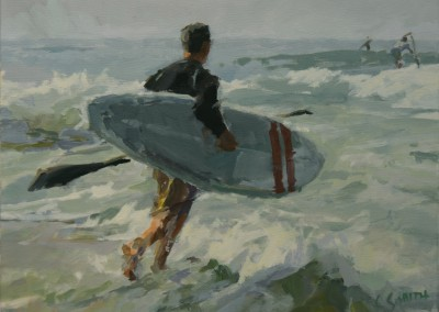 "Cameron Smith - ""Paddle Boarder"", 18x24, Acrylic, SOLD"