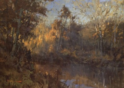 "Roger Dale Brown - ""Autumn Evening/Greenbrier River"", 30x40, Oil"