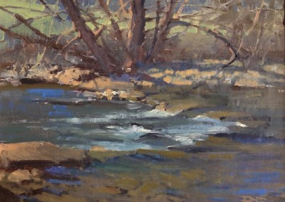 "Roger Dale Brown - ""Greenbrier Trout Stream"", 12x16, Oil"