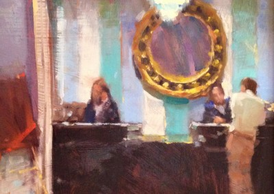 "Randall Sexton - ""Concierge Desk""	, Oil, SOLD"