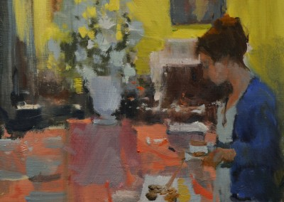 "Randall Sexton - ""Tea Time"", 12x12, Oil"