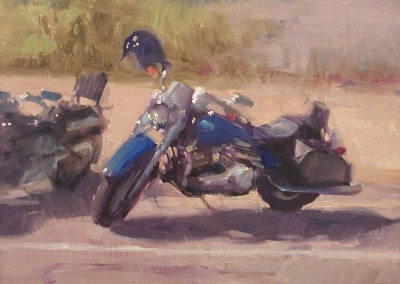 "Randall Sexton - ""Sexton Blue Ride"", 16x20, Oil, SOLD"