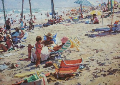 "Cameron Smith - ""In the Shade of the Pier"", 48x60, Acrylic"