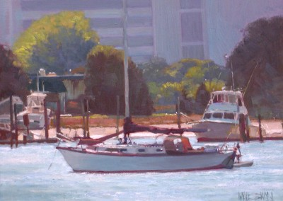 "William Maughan - ""Morning Moorings"", 12x16, Oil"