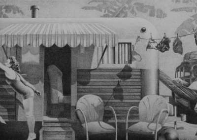 "Richard Chandler Hoff - ""Playful Dreams"", 10x20, Graphite"