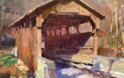 "Randall Sexton - ""Covered Bridge"", 12x16, Oil"