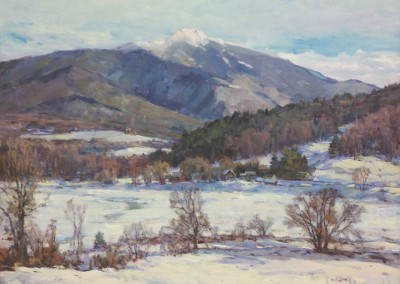 "Stapleton Kearns - ""New England Winter"", 24x30, Oil, SOLD"