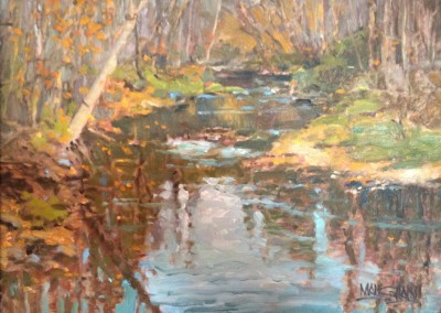 "William Maughan - ""Howard Creek at the Greenbrier"", 9 x 12, Oil, SOLD"