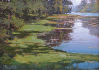 "William Maugha - ""Lake Late Afternoon"", 12x16, Oil, SOLD"