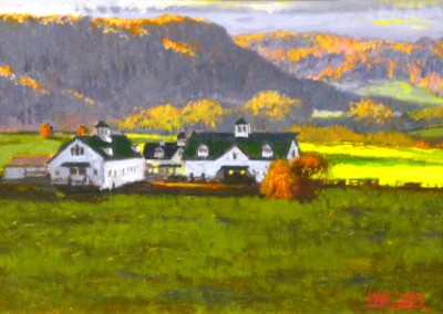 "William Maughan - ""West of Lewisburg"", 9x12, Oil"