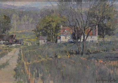"John Michael Carter - ""Virginia Landscape"", 14x28, Oil"