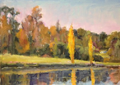 "Perry  Austin - ""Poplars"", 12x16, Oil"