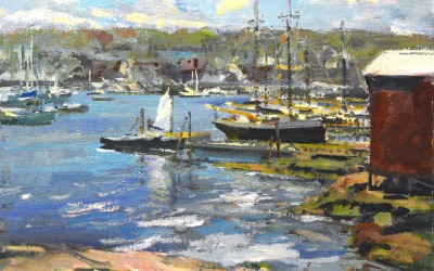 "Charles Movalli - ""September Harbor"",   24x30, acrylicacrylic"