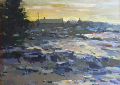 "Charles Movalli - ""Sunset"", 20x24, Acrylic, SOLD"