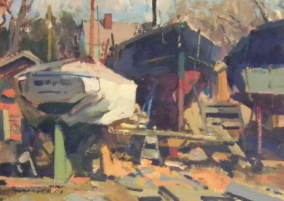 "Charles Movalli - ""Up for Repair"", 20x24, Acrylic, SOLD"