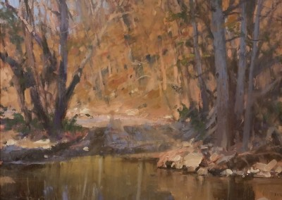 "Roger Dale Brown - ""Across the Ford"", 30 x 30, Oil"