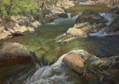 "Roger Dale Brown - ""Cascading"", 36x40, Oil"