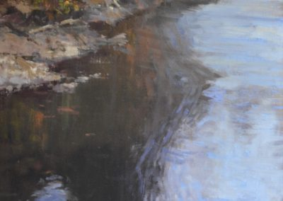 "Roger Dale Brown - ""Gently Moving"", 40x22, Oil"