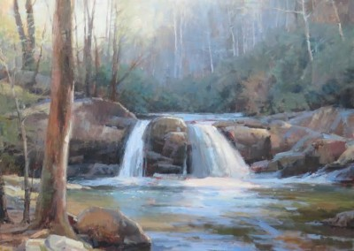 "John Poon -  ""The Falls"" , 48 x 48, Acrylic, SOLD"