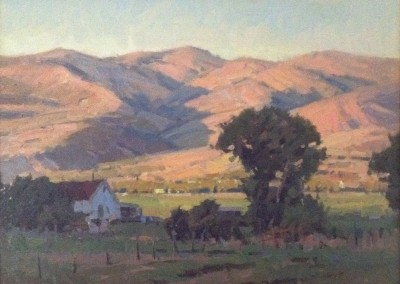 "John Poon - ""Valley Evening"", 12x16, Acrylic, SOLD"
