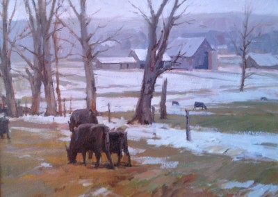 "John Poon - ""Winter Pasture"", 18x24, Acrylic, SOLD"