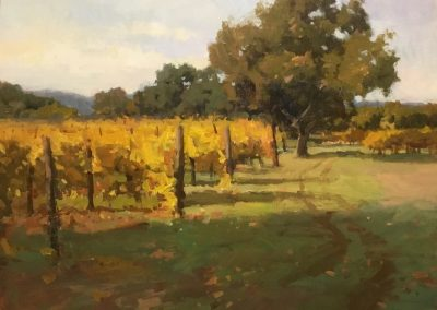 "John Poon - ""Autumn in Wine Country"", 16x20, Acrylic"