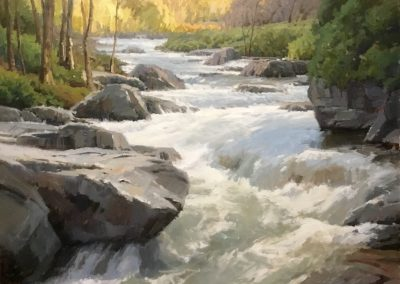 "John Poon - ""Looking Upstream"", 36x48, Acrylic"