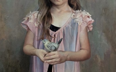 "Ardith Starostka - ""Little Bird"", 30x20, oil on linen"