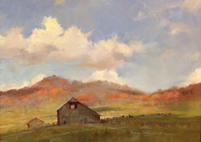 "Kenn Backhaus - ""Retired West Virginia"",  16x20, Oil"