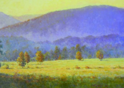 "Perry  Austin - ""Cade's Cove Sunset"", 24x36, Oil, SOLD"