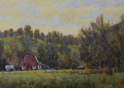 "Perry Austin - ""Near Second Creek"", 12x24, oil, SOLD"