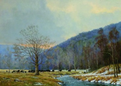 "Perry Austin - ""Along Knapps Creek"",  24x36, oil SOLD"