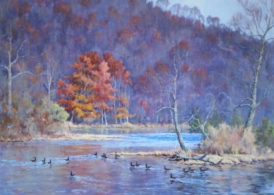"Perry Austin - ""Greenbrier Gathering"", 30x40, oil"