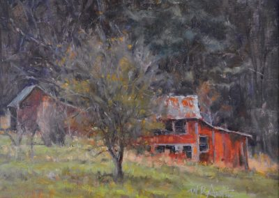 "Perry Austin - ""Grouse Cover"", 9x12, oil"