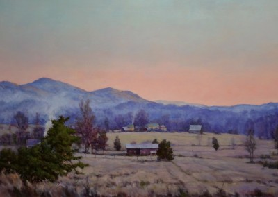 "Perry Austin - ""Valley Mist"", 24x35, Oil"