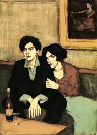 "Malcolm Liepke - ""Alone Together"", 26 x 20.5,Lithograph"