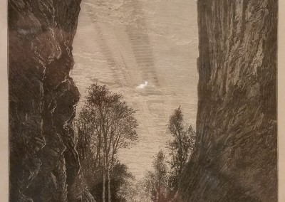 "Fenn, Harry - ""Under Natural Bridge"", $70, Engraving"